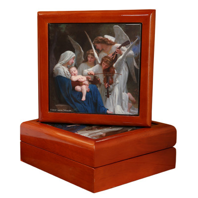 Song of the Angels Keepsake Wood Tile Box