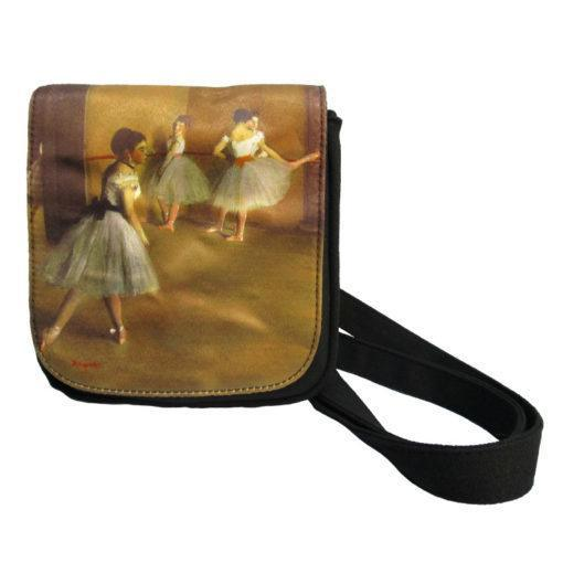 Cross Over Bag – Degas Ballerinas with adjustable shoulder strap and single button closure