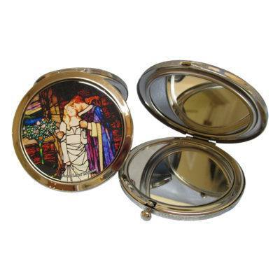 Aluminum Golden Legend Compact Mirror