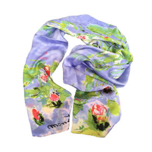 Water Lilies by Monet printed on scarf