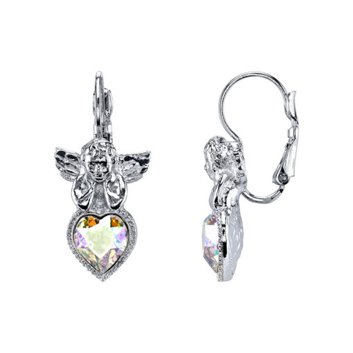 Silver-Tone Angel Earrings