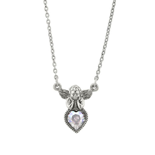 Silver-Tone Angel Necklace