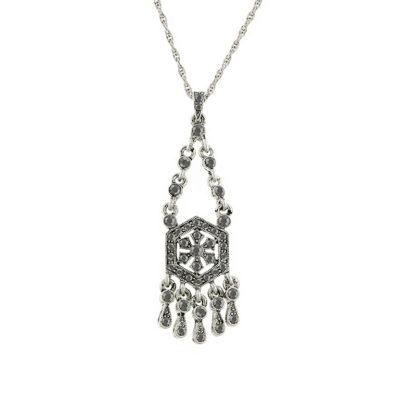 Silver-Tone Hematite Color Necklace