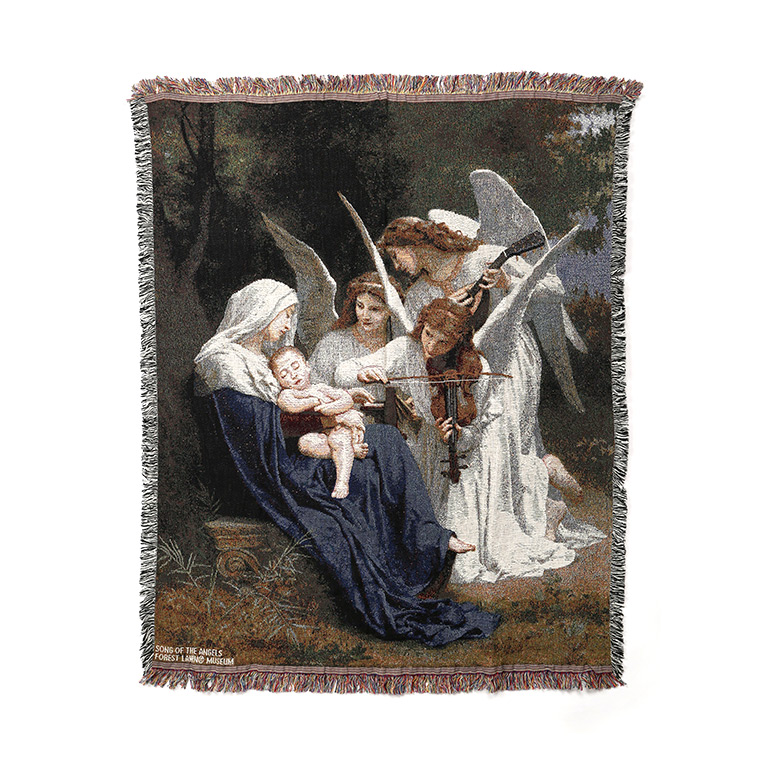 Cotton Song of the Angels Tapestry Throw Blanket