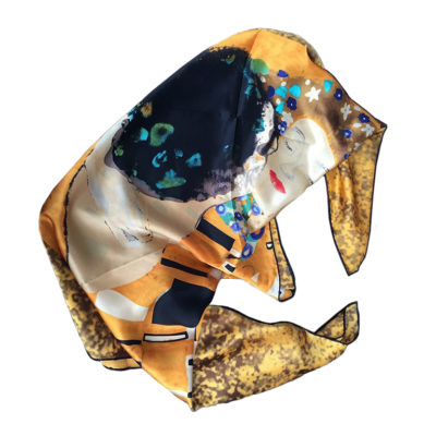 The Kiss by Klimt printed on scarf