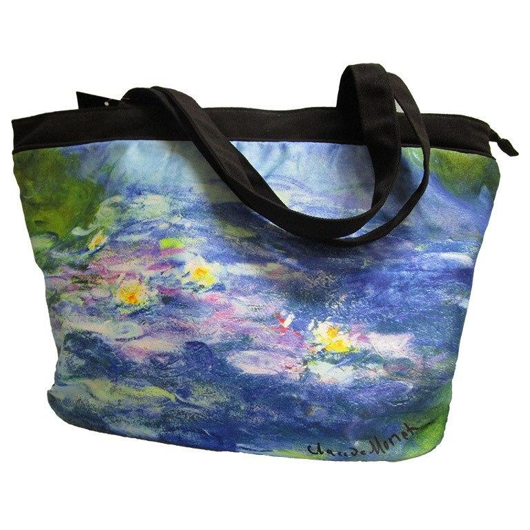 "Tote Bag-Monet Lily Pads Design 19 ½"" x 14 ½"""