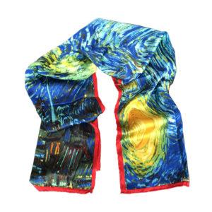 Starry Night by Van Gogh printed on scarf