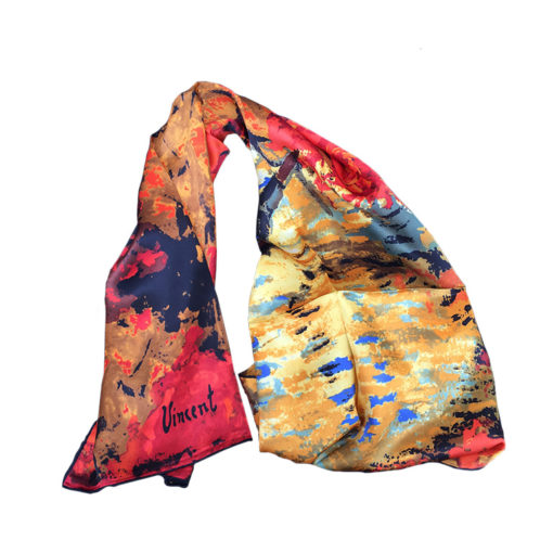 The Red Vineyards by Van Gogh printed on scarf