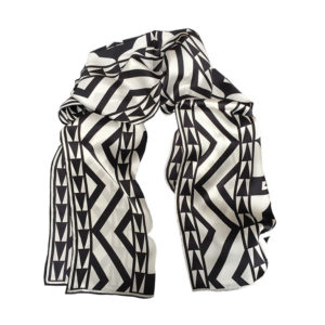Vienna Black and White design printed on scarf