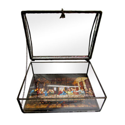 The Last Supper Window Handcrafted Glass Jewelry Box